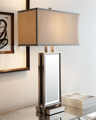 Mirrored Slat Lamp traditional lamp shades
