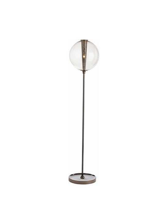 Arteriors Caviar Brown Nickel/Smoke Glass Floor Lamp -