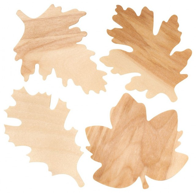 Wooden Fall Leaves contemporary accessories and decor