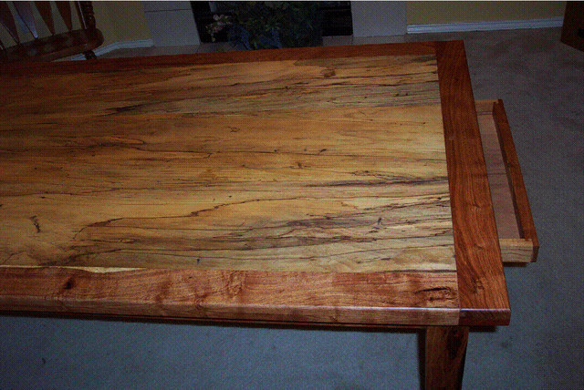 Mesquite Spalted Pecan Dinning Table Traditional Dining Tables Austin