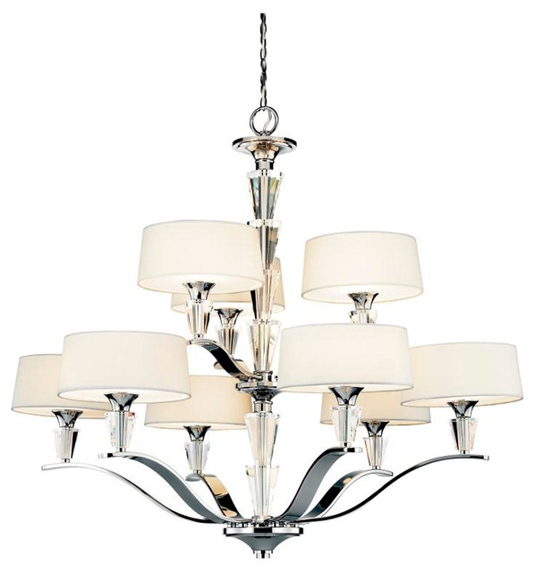 and chrome chandelier large lamp shades by shades of light. Black Bedroom Furniture Sets. Home Design Ideas