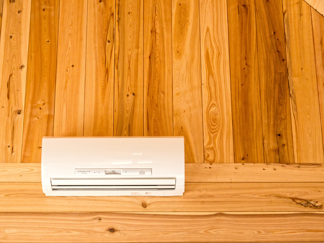 Ductless Mini-Split Heat and Air rustic