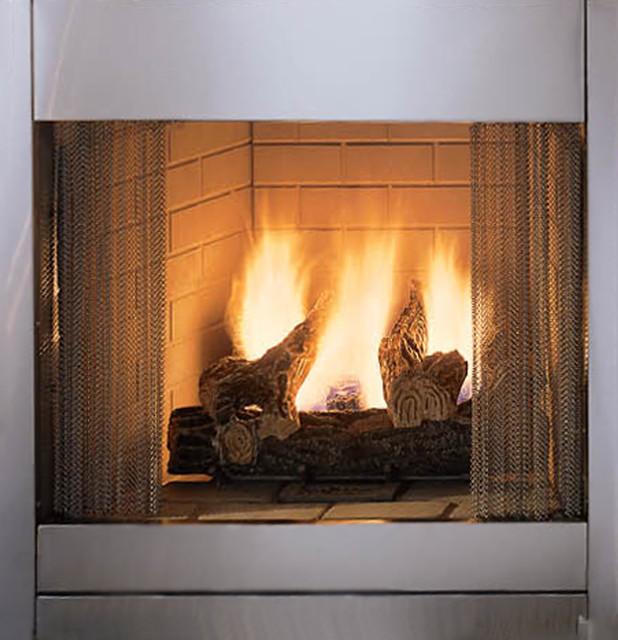 Majestic Odgsr42arp Al Fresco Vent Free Gas Outdoor Fireplace Modern Fireplaces By