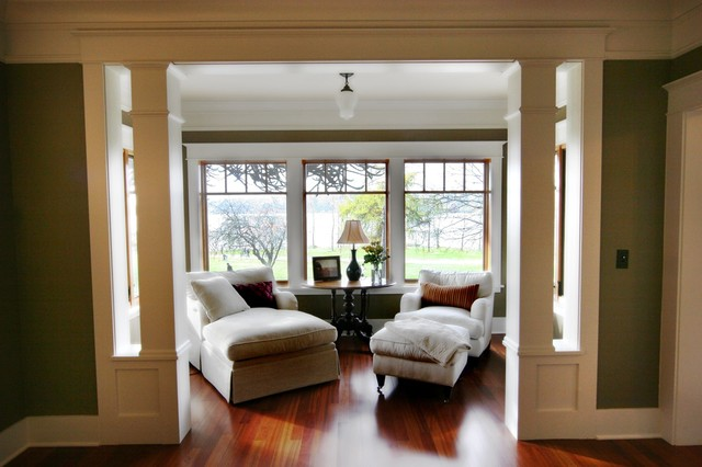 Sitting Room with View of Greenlake traditional-living-room