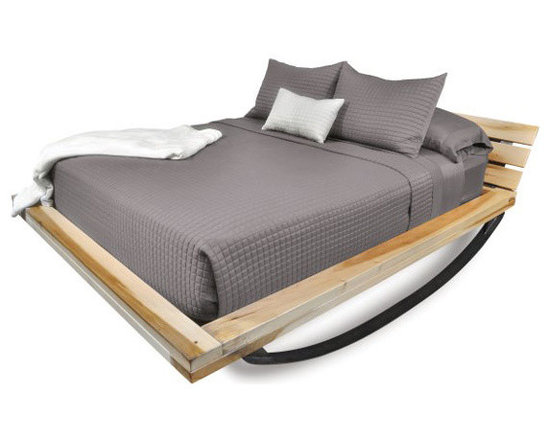 Rock and Roll Bed - Fitful sleep be gone. This innovative bed will rock and roll with you all night long, giving you a most child-like sleep.