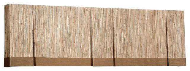Woven Wood Valances eclectic-valances