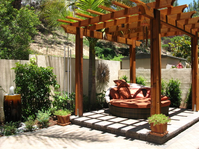 Patio Wood Cover Decorating Style Natural Patio Cover Art Design Ideas ...