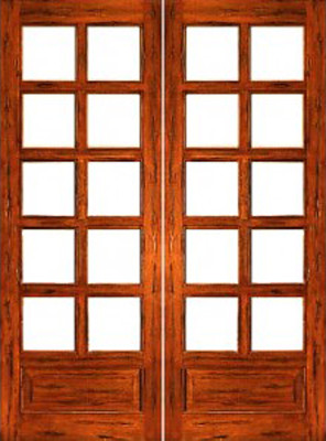 Rustic 10 lite p b interior solid 1 panel ig glass double for 10 pane glass door