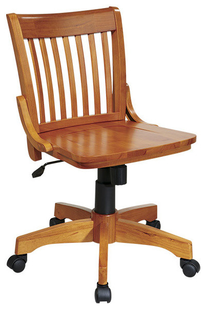 Wood Bankers Office Chair - traditional - task chairs - atlanta .