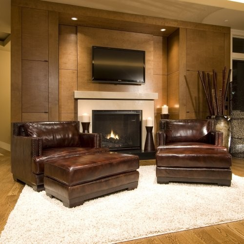 Davis 2-Piece Set Top Grain Leather Accent Chairs in Saddle traditional-armchairs-and-accent-chairs