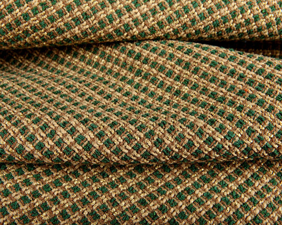 Glen Upholstery Fabric in Fern - Glen Upholstery Fabric in Fern green & tan textured weave fabric. A small-scale plaid pattern with warm natural color way creates a country feel. This fabric has a nubby texture creating a one of a kind look for your interior. Made in the USA with 74% rayon and 26% cotton with a width of 54″. Cleaning Code S. Passes 15,000 double rubs on the Wyzenbeek Method abrasion test.