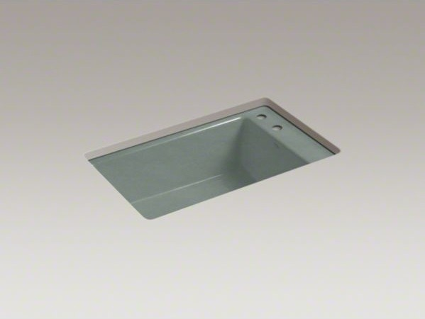 "KOHLER Indio(R) 33"" x 21-1/8"" x 9-5/8"" under-mount single-bowl kitchen sink with contemporary-kitchen-sinks"