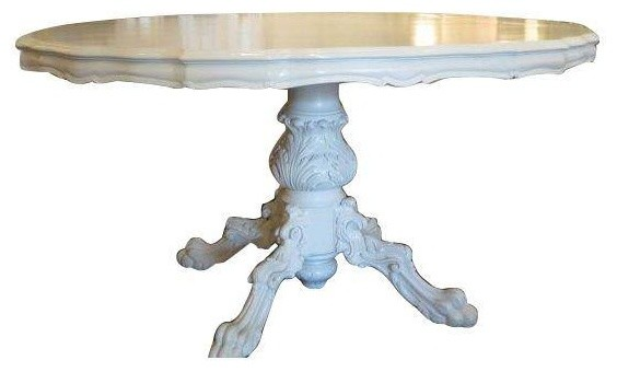 Used Vintage Claw Foot Ornate White Dining Table  : farmhouse dining tables from houzz.com size 564 x 340 jpeg 25kB
