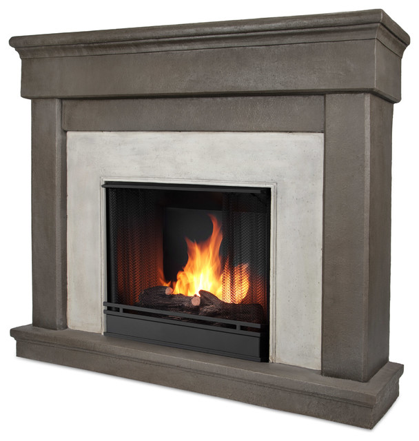 Cascade Dune Stone Gel Fuel Firebox And Mantel Transitional Indoor Fireplaces By Shop Chimney