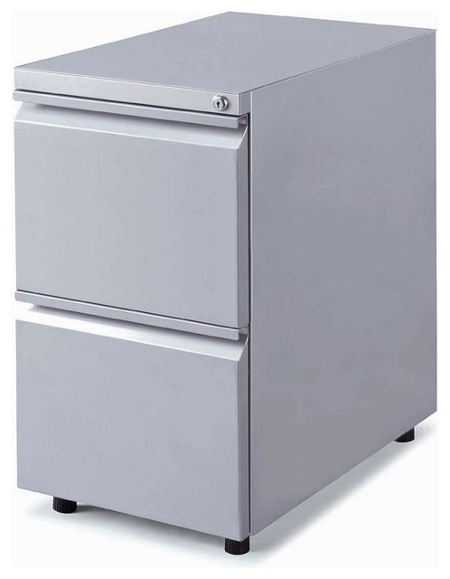 Mobile Locking 2 Drawer File Cabinet - Contemporary - Filing Cabinets - by ShopLadder