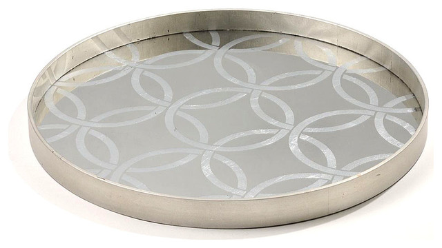 Circle Tray Transitional Serving Trays by Bliss Home