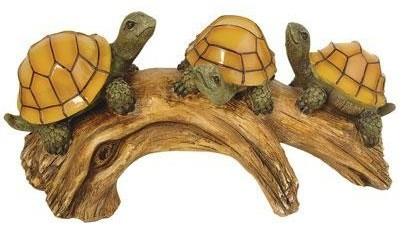 Turtles On A Log Solar Lights contemporary-outdoor-decor