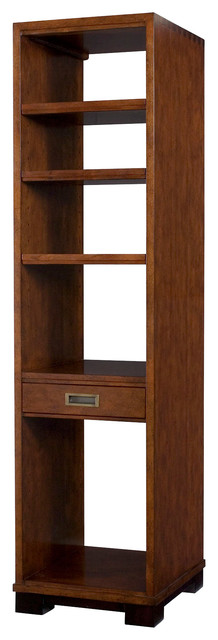 Hammary Modern Lodge Pier in Rustic Cherry traditional-bookcases