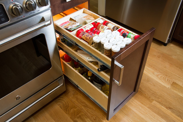 Custom Slide Out Shelves - Kitchen Drawer Organizers - other metro - by ShelfGenie National