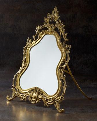 Bronze Vanity Mirror traditional-makeup-mirrors