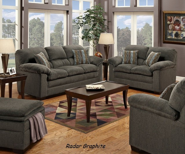 simmons upholstery angus stationary sofa and loveseat