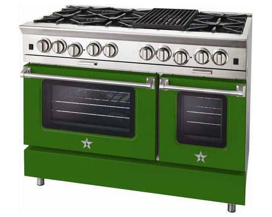 "BlueStar Platinum Series: 48"" Range - 48"" BlueStar Platinum Range in Emerald Green (RAL 6001)"