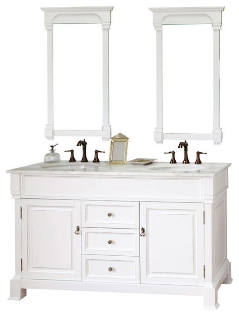 60 Inch Double Sink Vanity Wood White Modern Bathroom Vanities And Sink C
