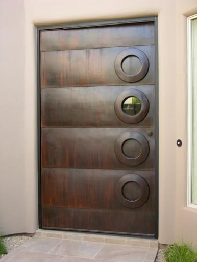 steel door contemporary-front-doors