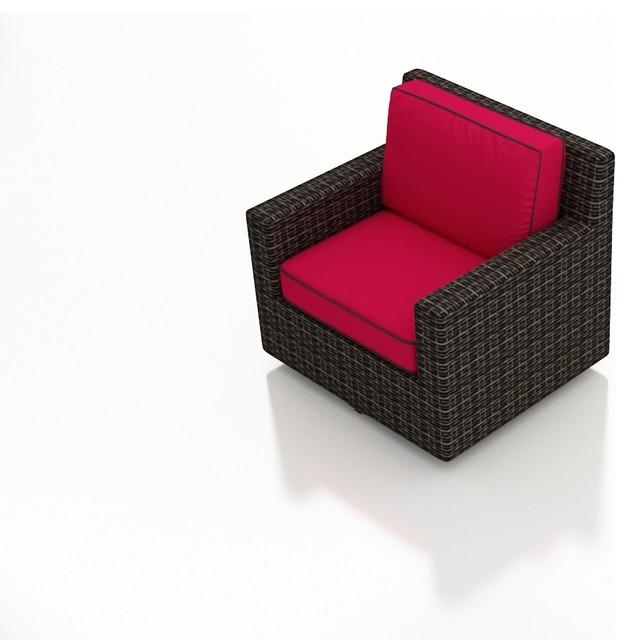 Modern patio swivel glider chair flagship ruby cushions contemporary