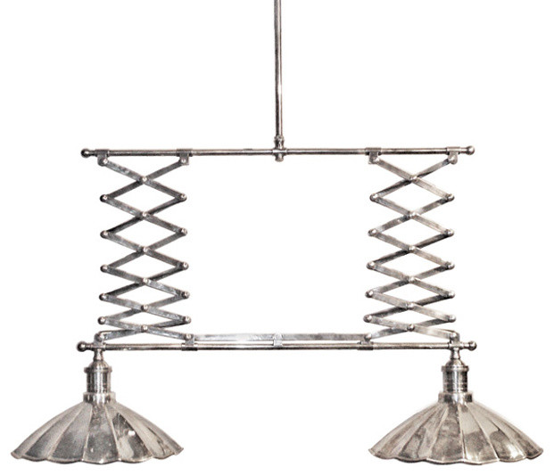 Accordion Billiard Light Rustic Pendant Lighting Atlanta By Iron Accents
