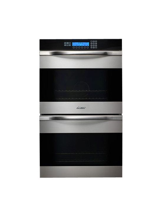 "Dacor Discovery 27"" Double Wall Oven, Stainless W/ Black Glass 