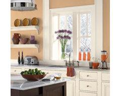 Orange Kitchen Ideas - Creamsicle-Orange Kitchen - Paint Color Schemes