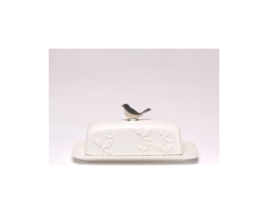 Beehive Laurel Butter Dish - Inspired by natural beauty and modern design, the Laurel Butter Dish by Beehive is designed to be as practical as it is beautiful.
