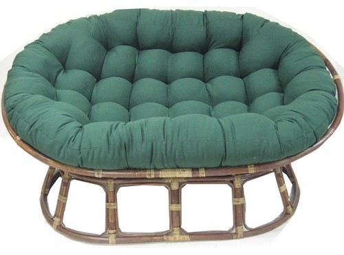 Premium Double Papasan Cushion Modern Outdoor Chaise