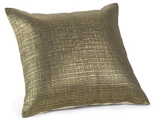 Gilded-Grasscloth Pillow contemporary pillows