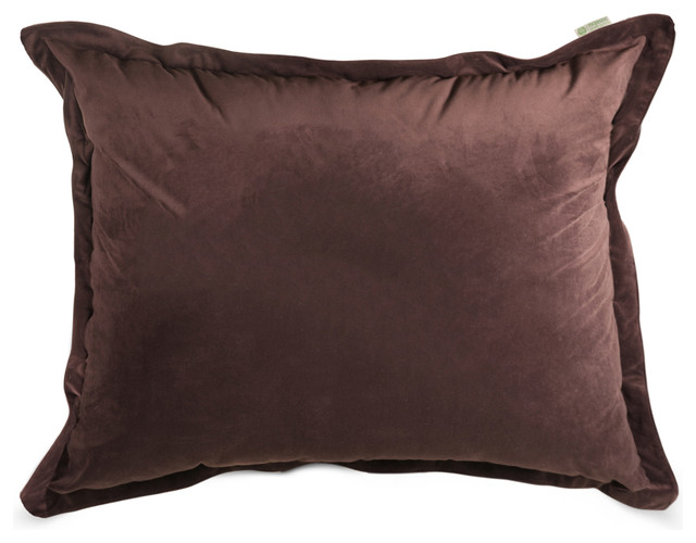 Dark Brown Throw Pillow : Indoor Dark Brown Faux Suede Floor Pillow - Modern - Decorative Pillows - by Majestic Home Goods