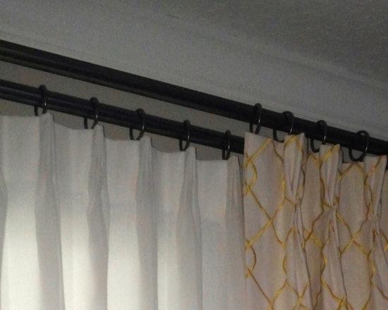 Drapery Ideas - Double layer drapery panels.