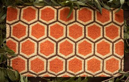 honeycomb doormat modern doormats by india rose