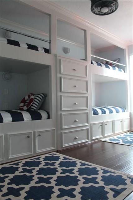 Galveston Beach House beach-style-bedroom