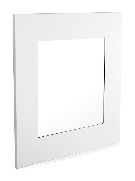 Blomus - Muro Square Mirror - Stainless steel framed mirror.