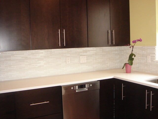 Metal Mosaic Tile Golden Kitchen Backsplash