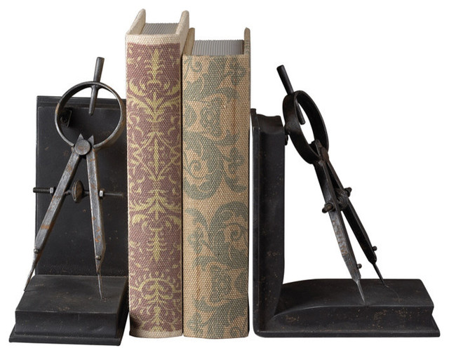Sterling Industries 51-10002 Compass Bookends contemporary-bookends