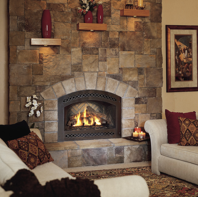 Fireplaces with cultured stone facing new york by instone for Buy stone for fireplace