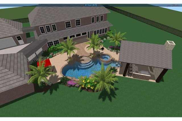 Traylor Residence tropical pool