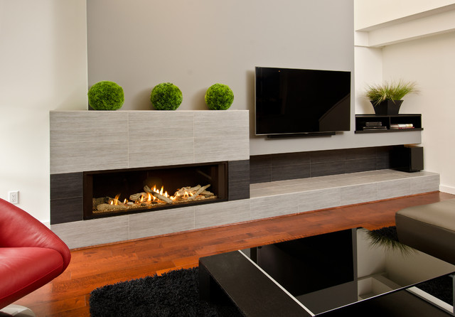 L2 Linear Series Fireplace Modern Indoor Fireplaces Vancouver By Valor Fireplaces