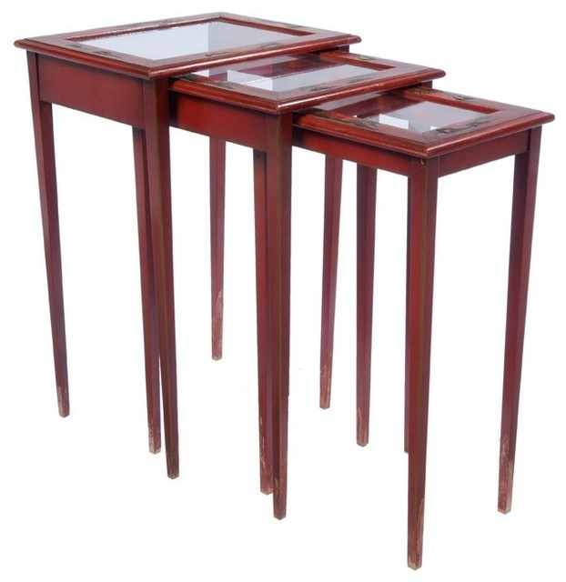 Asian Style Nesting Tables Side And End