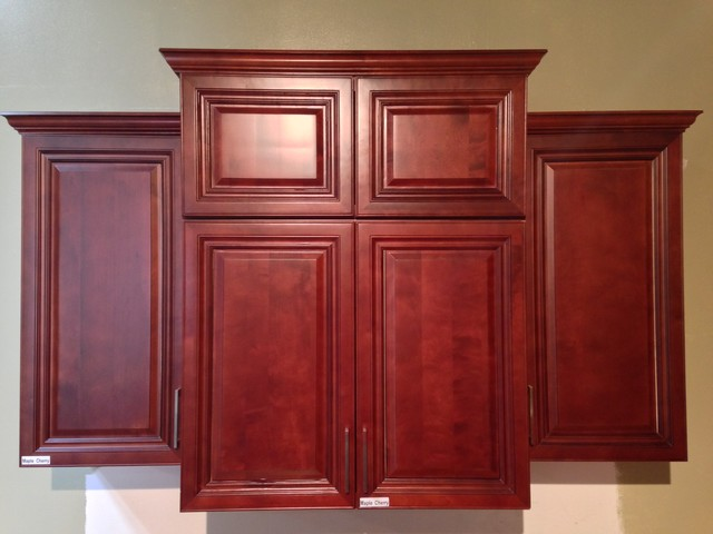 Stock Clearance - Maple Cherry Pantry Cabinet - Mediterranean - los angeles - by Greencastle ...