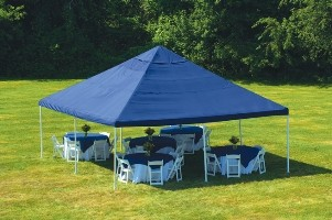 "Celebration Canopy, 20' x 20', 2"" Frame, 8-Leg, Blue Cover modern-outdoor-products"