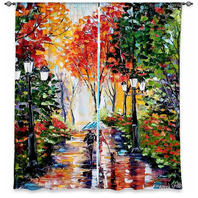 Window Curtains Lined by Karen Tarlton Walking the Dog contemporary-curtains