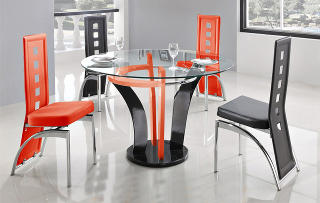 Black Orange Dining Table Contemporary Dining Tables